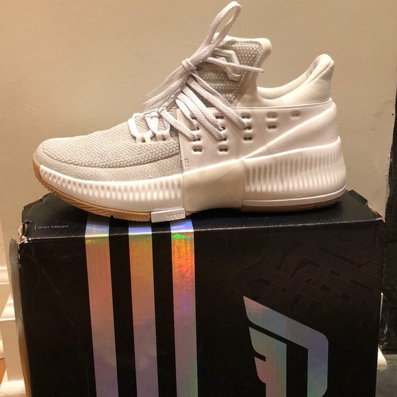 buy online 8bc8b 5d191 Adidas Dame 3 white basketball shoe